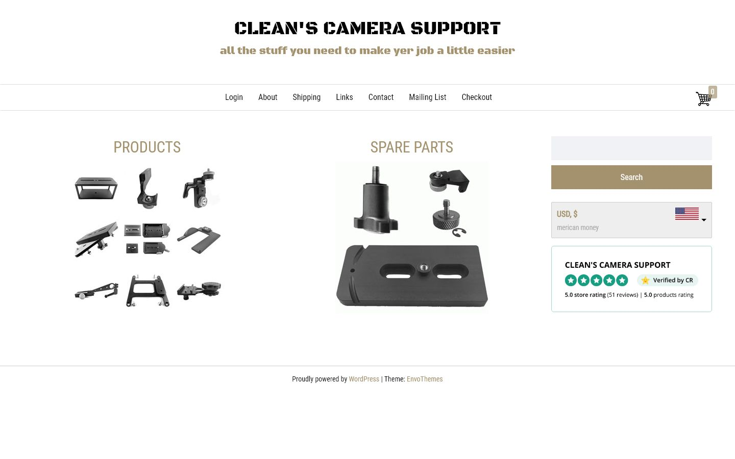 Clean's Camera Support