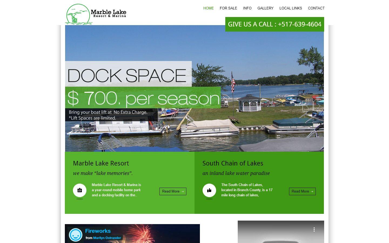 Marble Lake Website