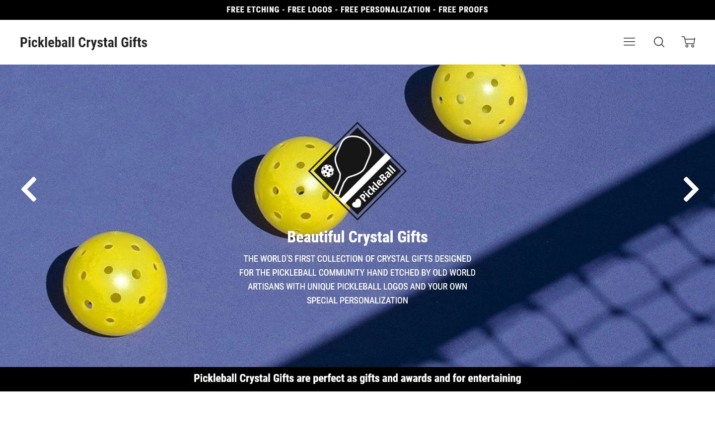 Pickleball Crystal Gifts